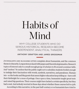 The article explores the impact of doing historical research on the critical thinking and analytical skills of college students. The author reflects on the trend of academic specialization and professional development for scholars. Emphasis is given to the diversity of experiences of history students and their engagement with the archive.